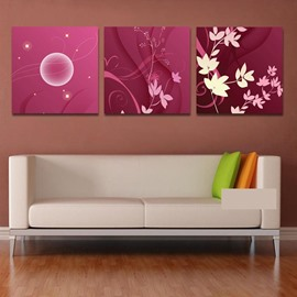 New Arrival White Flower With Pureple Addition Cross Film Wall Art Prints