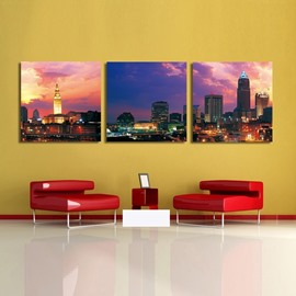 New Arrival Modern City And Sunset Film Wall Art Prints