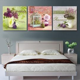 New Arrival Gracious Purple Flowers Film Wall Art Prints