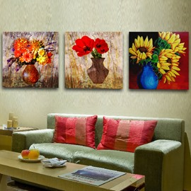New Arrival Yellow And Red Flowers Blossom Film Wall Art Prints