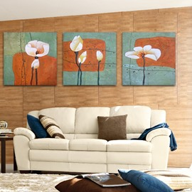 New Arrival Delicate White Flowers Film Wall Art Prints