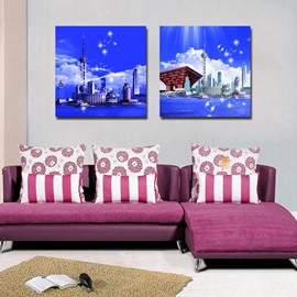 New Arrival Beautiful Coastal City Film Wall Art Prints