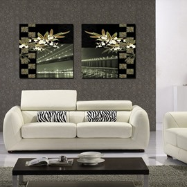 New Arrival Bridge Over The Lake And Flowers Film Art Wall Prints
