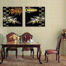 New Arrival Lakeside Night View  Film Art Wall Prints