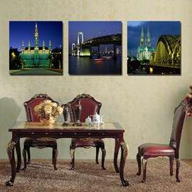 New Arrival Vienna Night View Film Art Wall Prints
