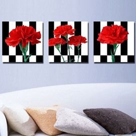 New Arrival Fragrant Red Carnation Canvas Wall Prints