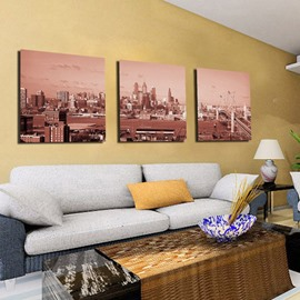 New Arrival Modern City With Buildings Surrounded Canvas Wall Prints