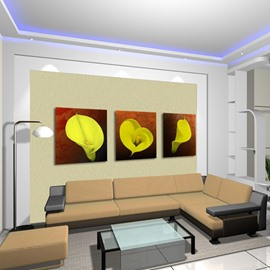New Arrival Yellow Calla Lily Canvas Wall Prints