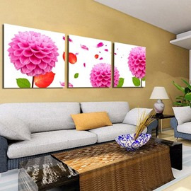 New Arrival Bright Pink Flowers Blossom Canvas Wall Prints