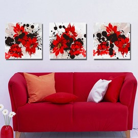 New Arrival Blooming and Fancy Red Flowers Canvas Wall Prints