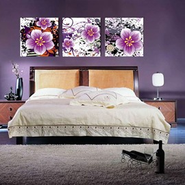 New Arrival Delicate Purple Flowers Blossom Canvas Wall Prints