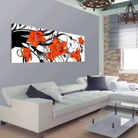 New Arrival Orange Flowers Blossom Canvas Wall Prints