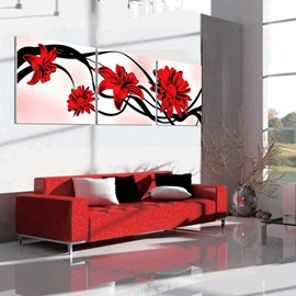 New Arrival Cute and Elegant Red Flowers Blossom Canvas Wall Prints