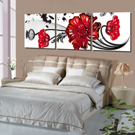 New Arrival Lovely and Beautiful Red Flowers Canvas Wall Prints