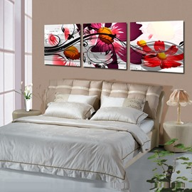New Arrival Fancy Colorful Flowers Blossom Canvas Wall Prints