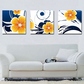 New Arrival Fancy and Elegant Yellow Flowers Canvas Wall Prints