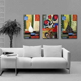 New Arrival Flowers in Unique Bottle Canvas Wall Prints