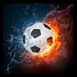 New Arrival Stunning Football Design Print