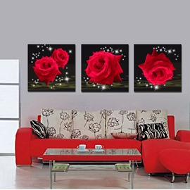 Splendid Shiny Red Roses Film Art Wall Prints
