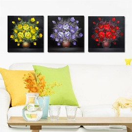 Quality Shiny Beautiful Colorful Flowers Film Art Wall Prints