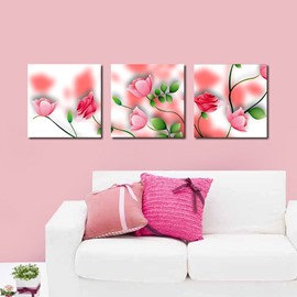 Amazing Pretty Pink Flowers Film Art Wall Prints