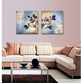 Retro Glamorous Flowers Film Art Wall Prints
