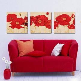 Fancy Elegant Red Flowers Film Art Wall Prints