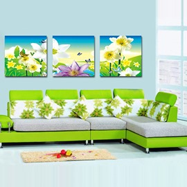 Fancy Butterflies on Pretty Flowers Film Art Wall Prints