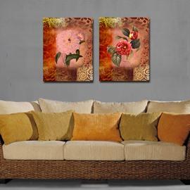 Vivid Pretty Shiny Flowers Film Art Wall Print