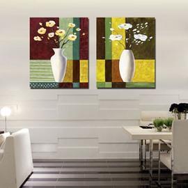 Pretty Flowers in Vase Film Art Wall Print