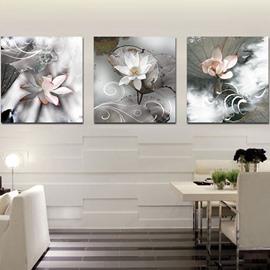 Delicate Vivid Lotus Film Art Wall Print