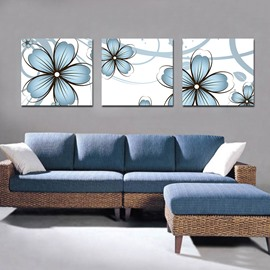 Cute Blue Flowers Print Film Art Wall Print
