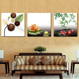 Fancy Candle and Pretty Flowers Film Art Wall Print