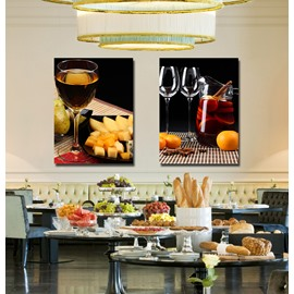 Fancy Wine and Fresh Fruit Film Art Wall Print