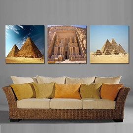 Grand Pyramid and Blue Sky Film Art Wall Print