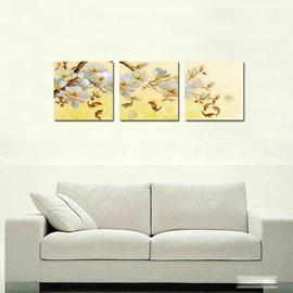 Pretty Flowers 3-Pieces of Crystal Film Art Wall Print
