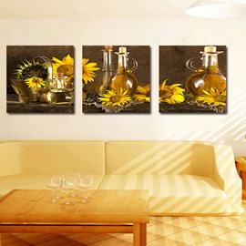 Popular High Quality 3-Pieces of Crystal Film Art Wall Print