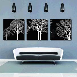 Pretty Unique Tree 3-Pieces of Crystal Film Art Wall Print