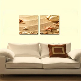 Fantastic Starfish 2-Pieces of Crystal Film Art Wall Print
