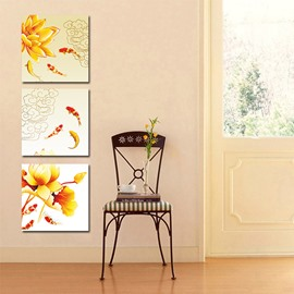 High Quality Pretty 3-Pieces of Crystal Film Art Wall Print