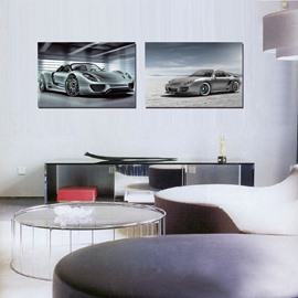 Top Selling Sports Car 2-Pieces of Crystal Film Art Wall Print