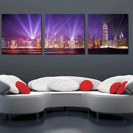 Beautiful Night Scene 3-Pieces of Crystal Film Art Wall Print
