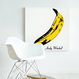 Wonderful Andy Warhol Banana Pattern Wall Art Print
