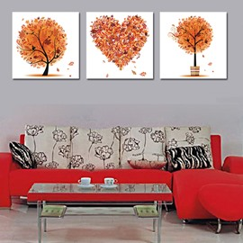 Multi Shape Tree 3-Piece Crystal Film Art Wall Print