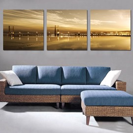 Beautiful Spectacular Bridge 3-Piece Crystal Film Art Wall Print