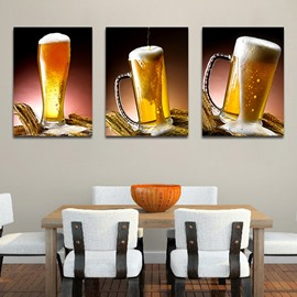 Beer Glasses 3-Piece Crystal Film Art Wall Print