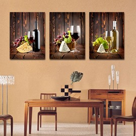 Classic Wine Glasses 3-Piece Crystal Film Art Wall Print