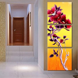 Beautiful Strange Flower 3-Piece Crystal Film Art Wall Print