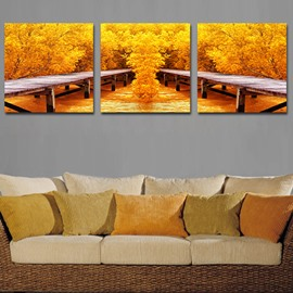 Pretty Autumn Sense 3-Piece Crystal Film Art Wall Print