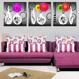 Colorful Flowers 3-Piece Crystal Film Art Wall Print